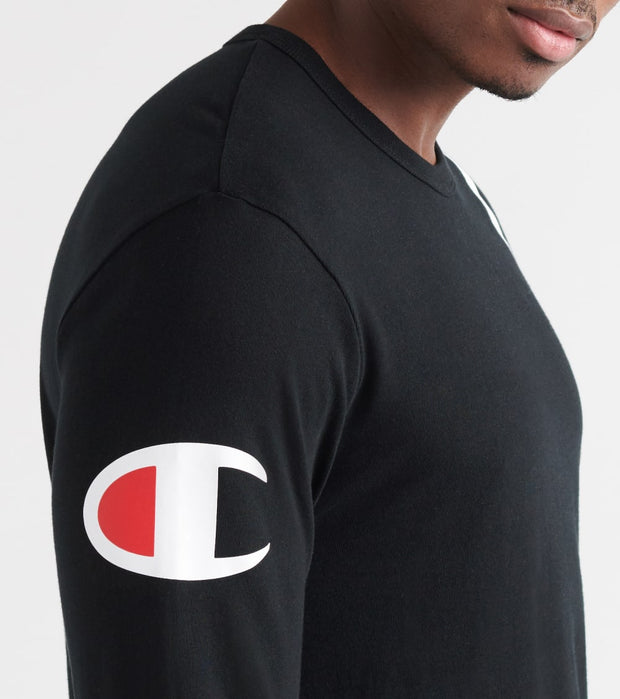 Champion  Script Over Shoulder Long Sleeve  Black - T3822550257-BKC | Jimmy Jazz