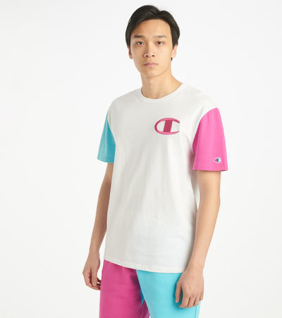Champion  Heritage Colorblock Tee  White - T7041551148-L4O | Jimmy Jazz