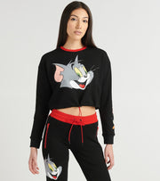Essentials  Really Tom Hoody Crop Sweatshirt  Black - T9C0025-BLK | Jimmy Jazz