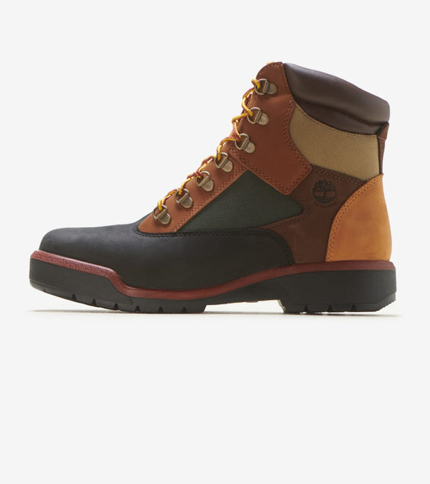black leather timberland field boots
