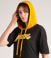 Mitchell And Ness  Lakers Fleece Hoodie Dress  Black - TDRSEL18130LAL-BLCK | Jimmy Jazz