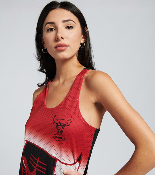 Mitchell And Ness  Reversible Mess Tank Dress Bulls  Black - TDRSEL18133-CBURED1 | Jimmy Jazz