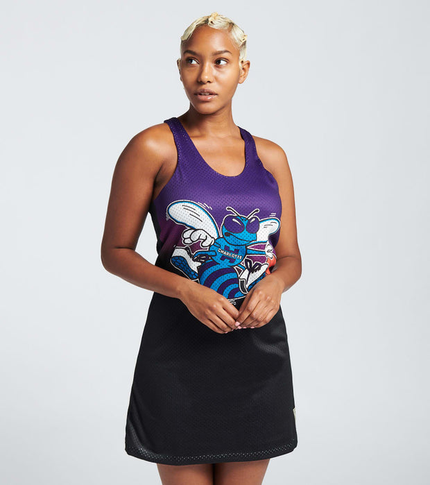 Mitchell And Ness  Reversible Mess Tank Dress Hornets  Blue - TDRSEL18133-CHOBLCK | Jimmy Jazz