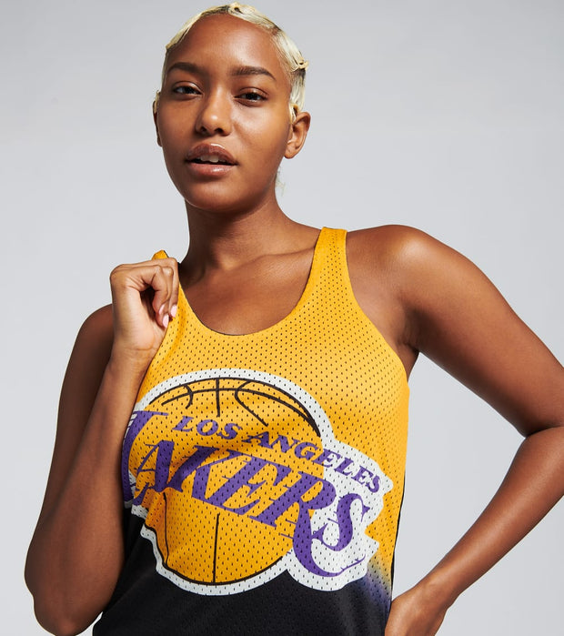 Mitchell And Ness  Reversible Mess Tank Dress Lakers  Black - TDRSEL18133-LALBLCK | Jimmy Jazz