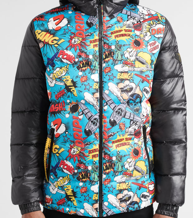 Top Gun  Comics Solid Down Jacket  Multi - TGJ1905-BLK | Jimmy Jazz