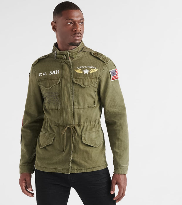 Top Gun  Canvas Field Jacket  Green - TGJ1907-OLV | Jimmy Jazz