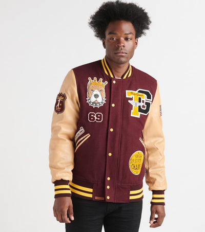 Top Gun  King Wool Varsity Jacket  Burgundy - TGJ1939-BRG | Jimmy Jazz