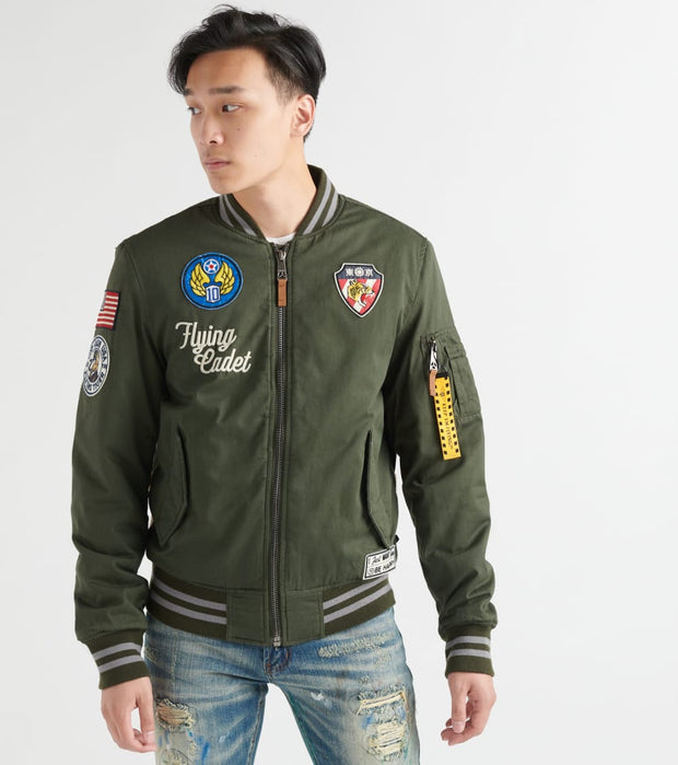 Top Gun  Vietnam Cotton Canvas Bomber Jacket  Green - TGJ1941-OLV | Jimmy Jazz