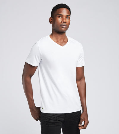 Lacoste  V Neck Tees 3 Pack  White - TH3444-001 | Aractidf