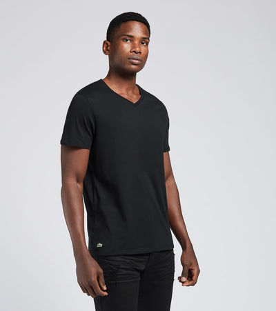Lacoste  V Neck Tees 3 Pack  Black - TH3444-031 | Aractidf