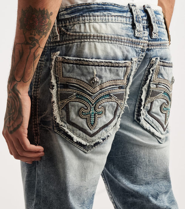 Rock Revival  Krys Short  Blue - TJ2438H201-KRY | Jimmy Jazz