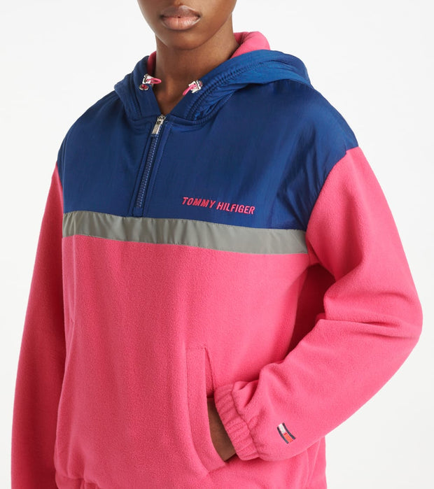 Tommy Hilfiger  Polar Fleece Half Zip Hoodie  Pink - TP03598T-FPK | Jimmy Jazz