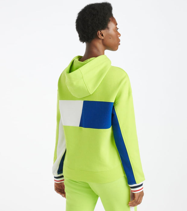 Tommy Hilfiger  Cropped Colorblocked Hoodie  Green - TP03715T-NGR | Jimmy Jazz