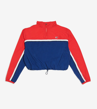 Tommy Hilfiger  Nylon Crinkle Half Zipmock Pullover  Red - TP03723T-SCA | Jimmy Jazz