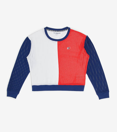 Tommy Hilfiger  Cropped Long Sleeve Crew Neck  Multi - TP03827T-4HC | Jimmy Jazz