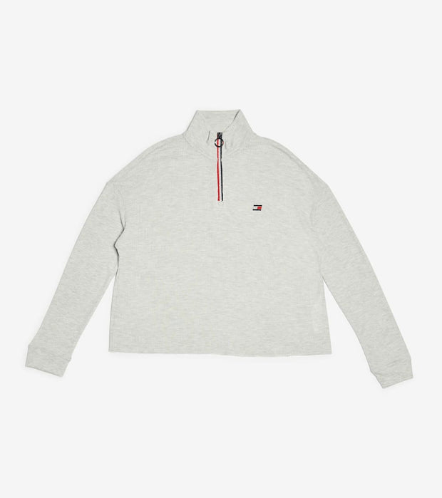 Tommy Hilfiger  Waffle Mockneck Half Zip Top  Grey - TP03887T-TE6 | Jimmy Jazz