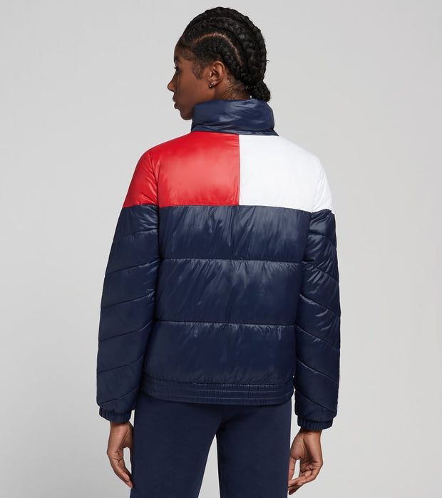 Tommy Hilfiger  Colorblock Puffer Jacket  Navy - TP04794J-4HC | Jimmy Jazz