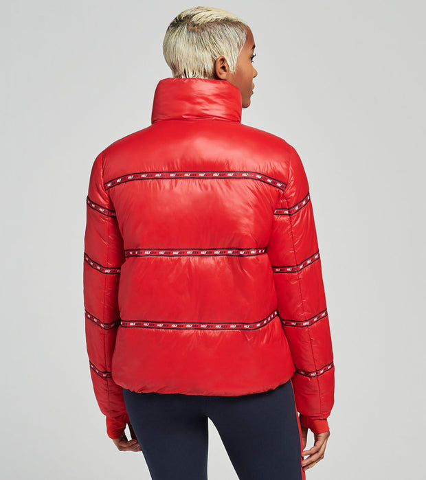 Tommy Hilfiger  Cropped Puffer Jacket  Red - TP04863J-RHR | Jimmy Jazz