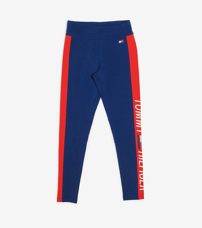 Tommy Hilfiger  Mid Rise Full Length Legging  Blue - TP07825P-DEP | Jimmy Jazz
