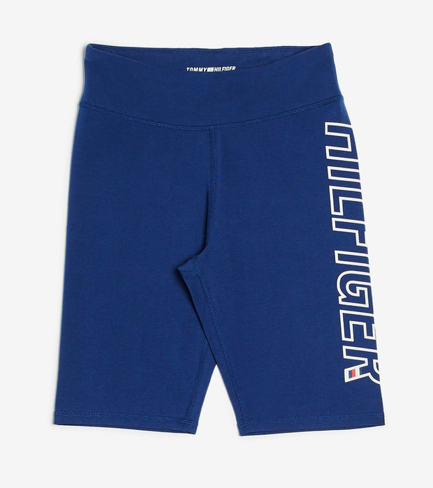 Tommy Hilfiger  Logo High Rise Short Tight  Navy - TP08706S-DEB | Jimmy Jazz