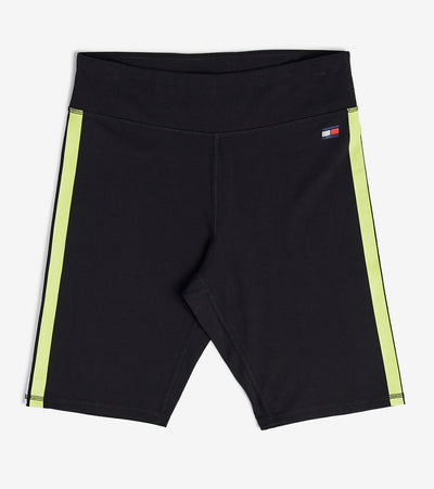 Tommy Hilfiger  High Rise Logo Biker Shorts  Black - TP08720S-BLK | Jimmy Jazz