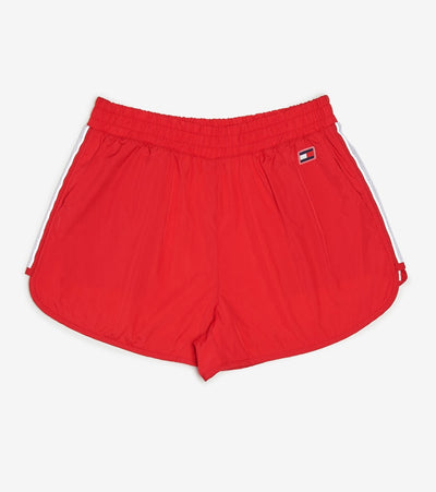 Tommy Hilfiger  Nylon Dolphin Short With Taping  Red - TP08744S-SCA | Jimmy Jazz