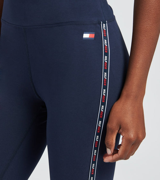 Tommy Hilfiger  High Rise Micro Tape Leggings  Navy - TP09026P-NVY | Jimmy Jazz