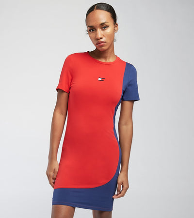 Tommy Hilfiger  Prep Curve Block Dress  Red - TP18315Z-SCA | Jimmy Jazz