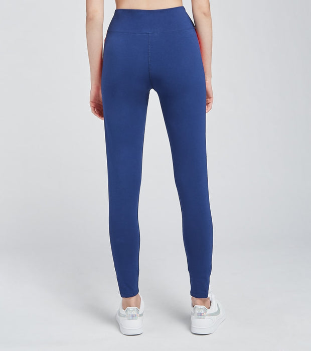 Tommy Hilfiger  High Rise Full Length Side Tights  Blue - TP19051P-DPB | Jimmy Jazz