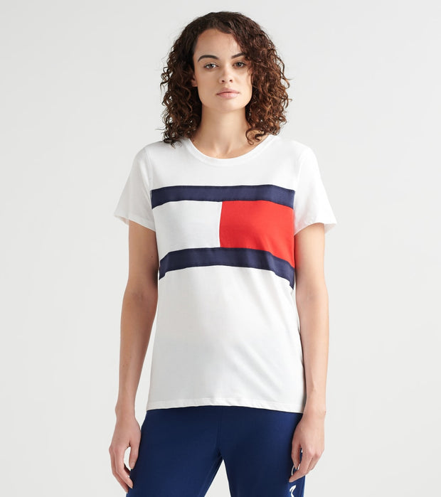Tommy Hilfiger  Flag Color Blocked Tee  White - TP82200T-WHT | Jimmy Jazz