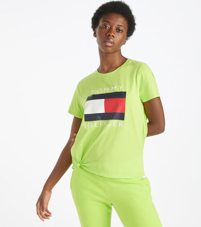 Tommy Hilfiger  Logo Knot Front Tee  Green - TP92813T-NGR | Jimmy Jazz