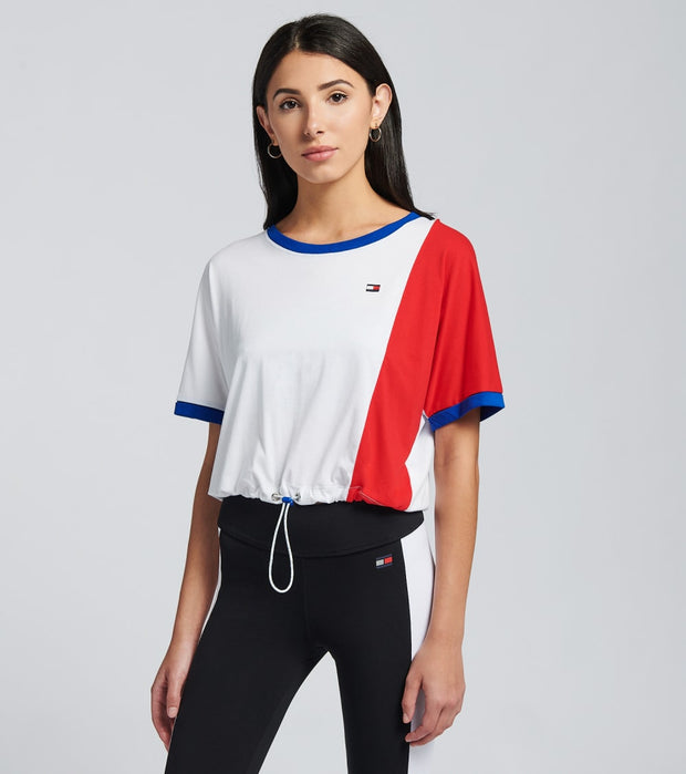 Tommy Hilfiger  Drop Shoulder Tee  White - TP92923T-WRD | Jimmy Jazz