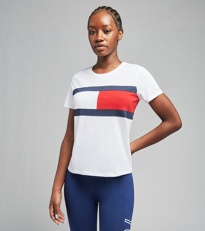 Tommy Hilfiger  Flag Short Sleeve Tee  White - TP93449T-WHT | Jimmy Jazz