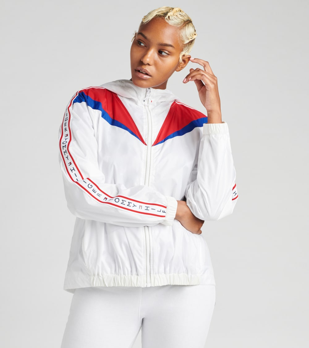 Tommy Hilfiger  Hooded Color Block Windbreaker Jacket  White - TP94413J-WHT | Jimmy Jazz