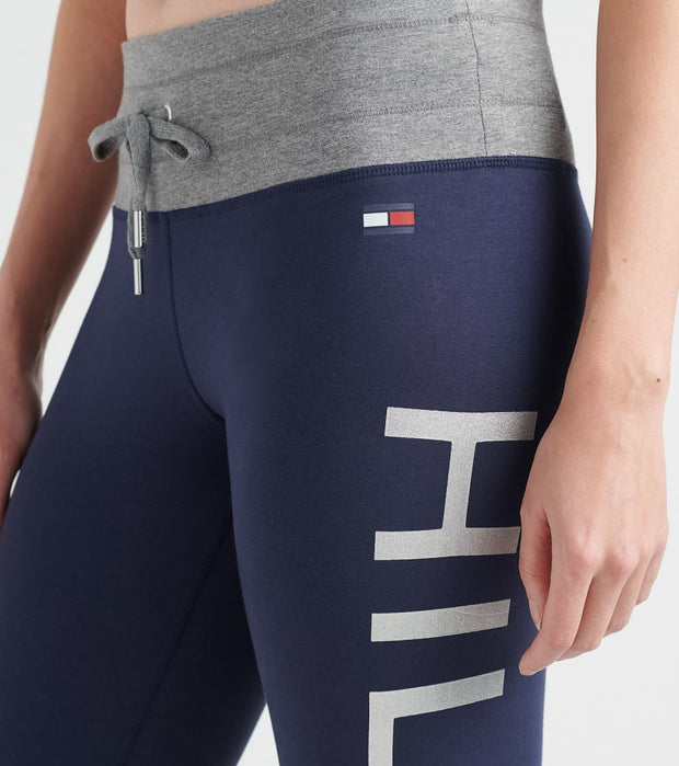 Tommy Hilfiger  Midrse Metallic Logo Legging  Navy - TP97069P-NVY | Jimmy Jazz