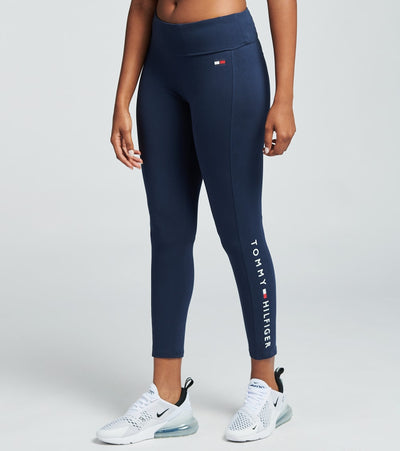 Tommy Hilfiger  Full Length Logo Leggings  Navy - TP97126P-NVY | Jimmy Jazz