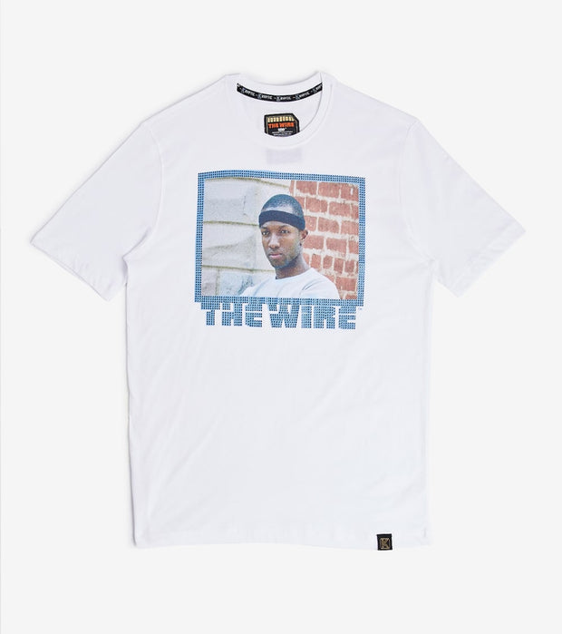 DE.KRYPTIC  The Wire Blue Short Sleeve Tee  White - TS99VCHBO-WBL | Jimmy Jazz