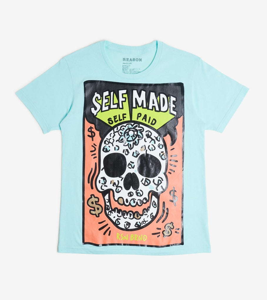 Reason  Self Made Tee  Blue - U1160-BLU | Jimmy Jazz