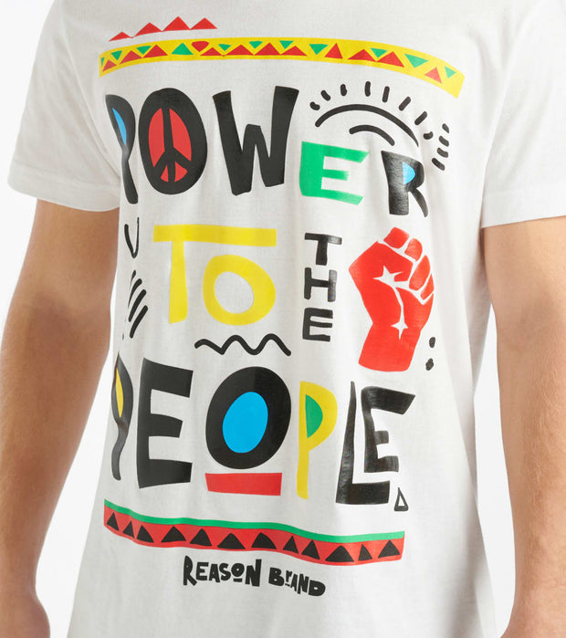 Reason  Power to the People Tee  White - U138-WHT | Jimmy Jazz