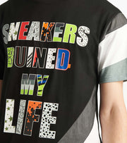 Reason  Sneakers Ruined My Life Tee  Black - U171-BLK | Jimmy Jazz