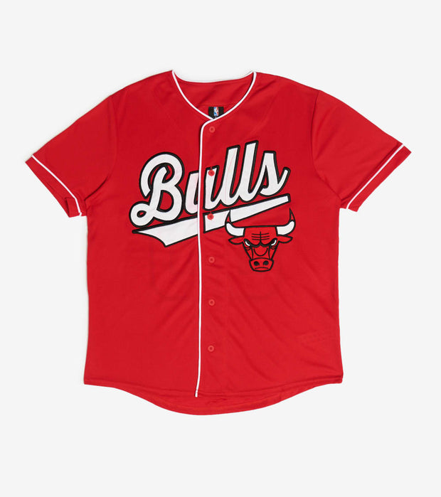 Unk  Chicago Bulls Baseball Jersey  Red - VTM4546SCB-RED | Jimmy Jazz