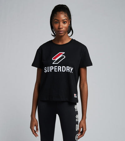 Superdry  Sportstyle Classic Tee  Black - W1010495A-BLK | Aractidf