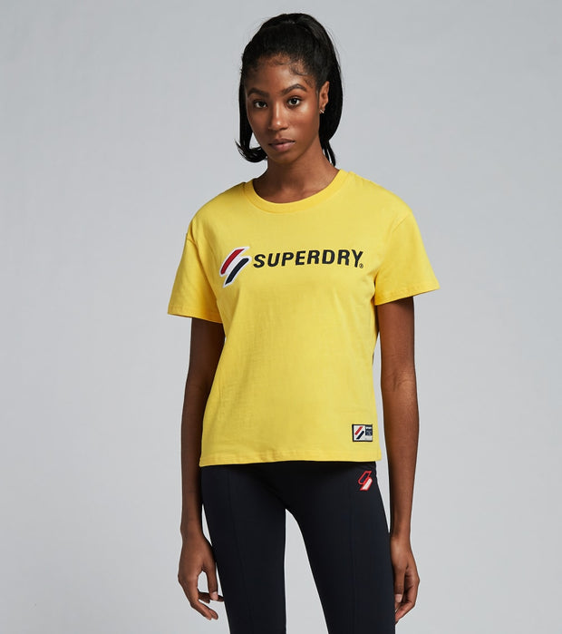 Superdry  Sportstyle Graphic Boxy Tee  Yellow - W1010496A-YLW | Jimmy Jazz