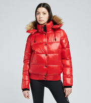 Superdry  High Shine Toya Bomber  Red - W5010317A-WA7 | Jimmy Jazz