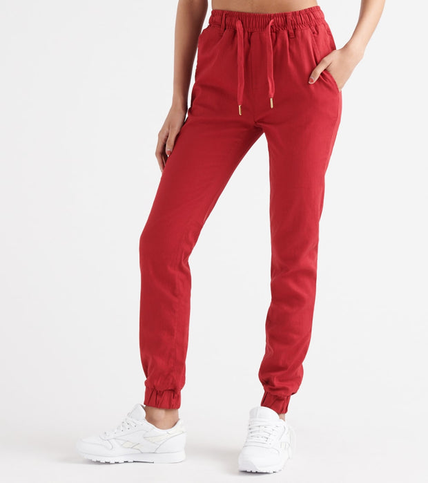 Essentials  SUPER SPANDEX TWILL P/O JOGGER  Red - WJP10P-RED | Jimmy Jazz