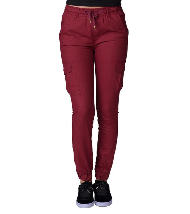 Essentials  Super Stretch Cargo Joggers  Burgundy - WJP15-BRG | Jimmy Jazz