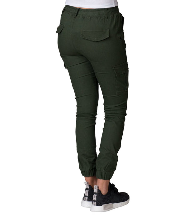 Essentials  Super Stretch Cargo Joggers  Green - WJP15-OLV | Jimmy Jazz