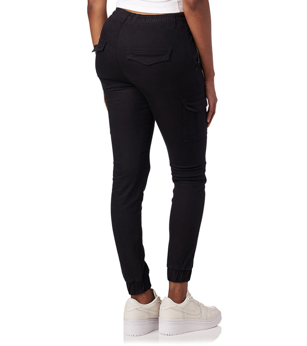 Essentials  Super Stretch Twill Joggers  Black - WJP15-BLK | Jimmy Jazz