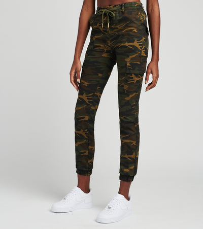 Essentials  Super Stretch Cargo Joggers  Green - WJP16-CAM | Jimmy Jazz