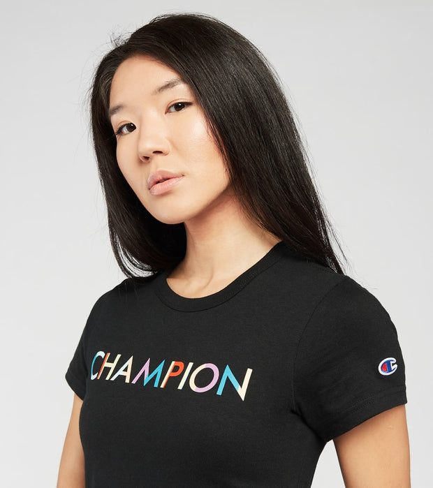 Champion  The Girlfriend Tee  Black - WL144586389-003 | Jimmy Jazz